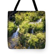 Flowing Water On Falling Lakes Of Plitvice Tote Bag