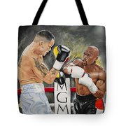Floyd Mayweather Tote Bag by Don Medina