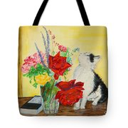 Fluff Smells The Lavender- Painting Tote Bag