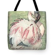 Fluffing Flamingo  Tote Bag