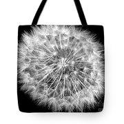 Fluffy Dandelion On Black Tote Bag