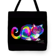 Fluffy Rainbow Cat 2 Tote Bag