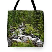 Fluid Motion - Crazy Woman Canyon - Crazy Woman Creek - Johnson County - Wyoming Tote Bag