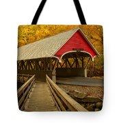 Flume Gorge Covered Bridge Tote Bag