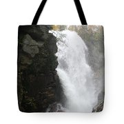 Flume Gorge Waterfall In Autumn Tote Bag