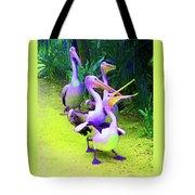 Fluorescent Pelicans Tote Bag