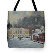 Flurries Over Mount Greylock Tote Bag