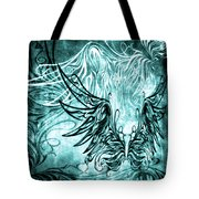 Fly Away Gothic Aqua Tote Bag