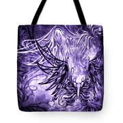 Fly Away Gothic Grape Tote Bag