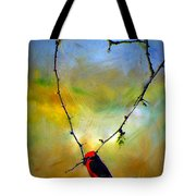 Fly Catcher In Heart Shaped Branch Tote Bag