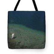 Fly Fishing In Alpine Lake Tote Bag