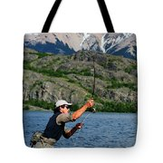 Fly Fishing In Patagonia Tote Bag