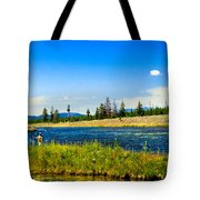 Fly Fishing In Yellowstone Tote Bag