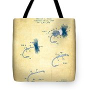 Fly Fishing Lure Patent From 1969 - Vintage Paper Tote Bag