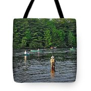 Fly Fishing West Penobscot River Maine Tote Bag