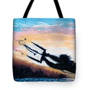 Flyin' Kiteboarder Tote Bag