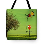 Flying A Balloon In A Parallel Universe Tote Bag