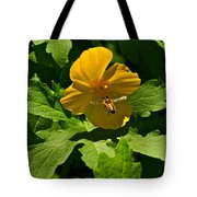 Flying Bee And Wood Poppy Tote Bag