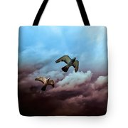 Flying Before The Storm Tote Bag