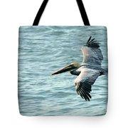 Flying Brown Pelican  Tote Bag