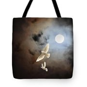 Flying By Moonlight Tote Bag