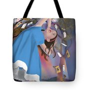 Flying Cards Dissolve Alice's Dream Tote Bag