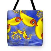 Jumping Fantasy Animals Tote Bag