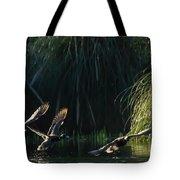 Flying Ducks Tote Bag