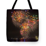 Flying Feathers Of Boston Fireworks Tote Bag
