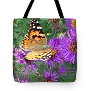 Flying Flower Tote Bag
