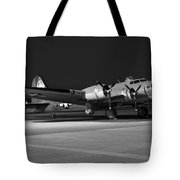 Flying Fortress On The Ramp Tote Bag