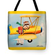 Flying Friends Tote Bag by LeAnne Sowa