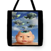 Flying Head Fish Tote Bag