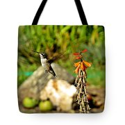 Flying Hummingbird Tote Bag