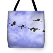 Flying In Formation Tote Bag