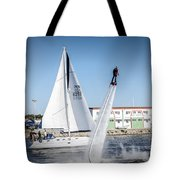 Flying In The Water Tote Bag