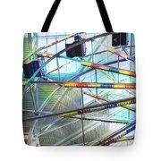 Flying Inside Ferris Wheel Tote Bag by Luther Fine Art