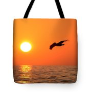 Flying Into The Sun Tote Bag