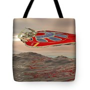 Flying Just Above The Waves Tote Bag