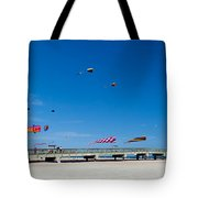 Flying Kites From The Pier Tote Bag