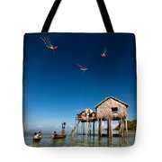 Flying Kites Tote Bag