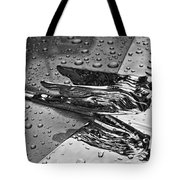 Flying Lady Hood Ornament In B And W Tote Bag