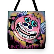 Flying Low Over Porkopolis  Tote Bag
