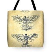Flying Machine Patent Drawing-vintage Tote Bag