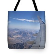Flying Over Mount Sinai Tote Bag