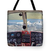 Flying Over North Cascades Tote Bag