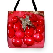 Flying Over Red Eggs Tote Bag