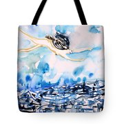Flying Over Troubled Waters Tote Bag