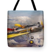 Flying Pig - Plane - The Joy Ride Tote Bag by Mike Savad