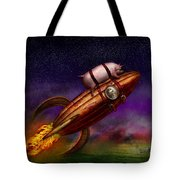 Flying Pig - Rocket - To The Moon Or Bust Tote Bag by Mike Savad